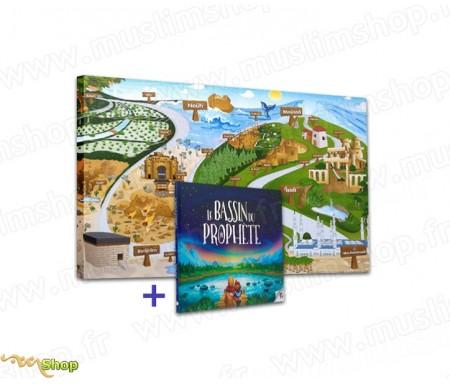 """Pack Toile """"Voyage au Pays des Prophètes"""" + Livre """"Le Bassin du Prophète"""""""