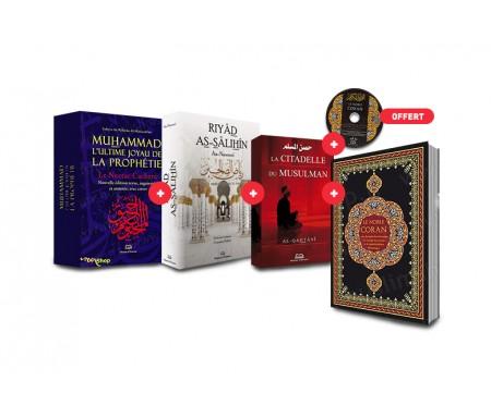 Coffret Essentiel Ennour - 4 Livres ! Ultime Joyau de la Prophétie, Riyad As-Salihin, La citadelle du musulman et le Saint Coran