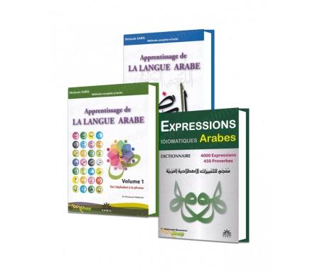 """Coffret 3 livres """"Langue arabe pour les Francophones"""" + 1 cahier Offert !"""