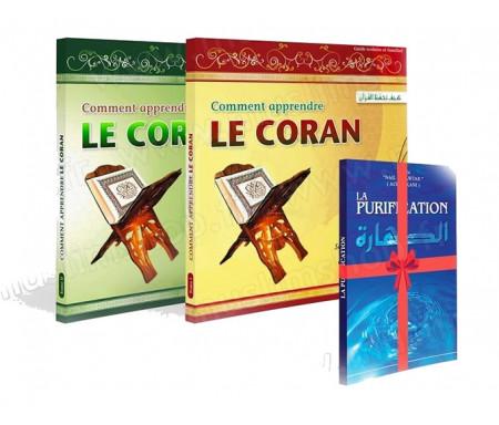 Coffret 3 livres - Comment apprendre le Coran Tome 1 et 2 + 1 livre offert !