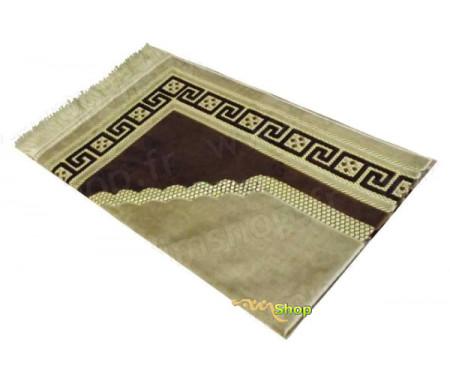 Tapis de prière velours luxe - couleur marron argile