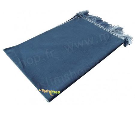 Tapis de Prière Velours Luxe - Bleu Ardoise