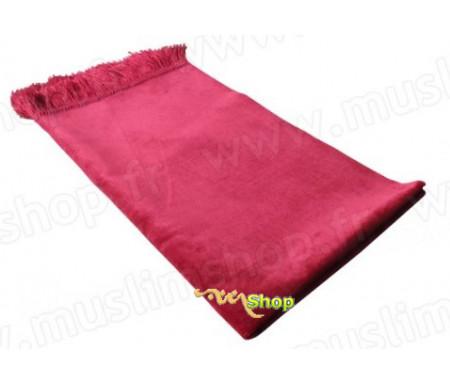 Tapis de Prière Velours Luxe - Rouge pastel