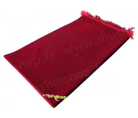 Tapis de Prière Velours Luxe - Rouge Espagne