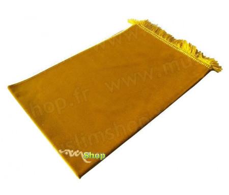 Tapis de Prière Velours Luxe - Jaune doré