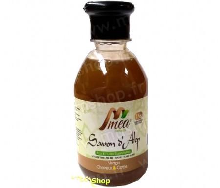MEA - Savon d'Alep liquide aux 4 huiles essentielles (Lavande vraie, Tea tree, Niaouli et Ylang-Ylang) - 250ml