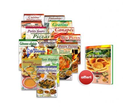 "Pack de 16 livres de cuisine Illustrés + ""Plat de Ramadan"" offert !"