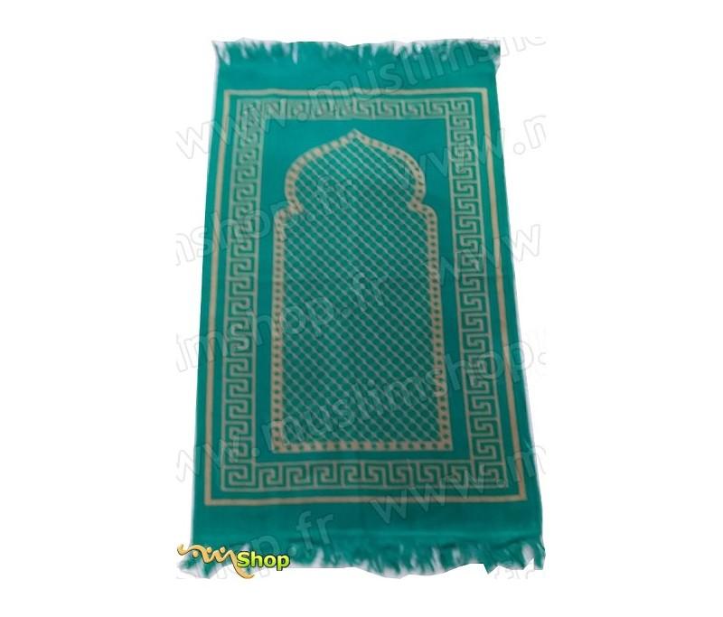 tapis de pri re velours couleur vert motif losange. Black Bedroom Furniture Sets. Home Design Ideas