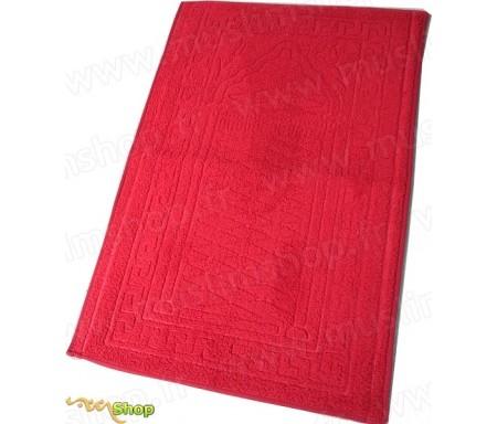 Tapis de prière épais et moelleux - Grande taille - Coloris Rouge