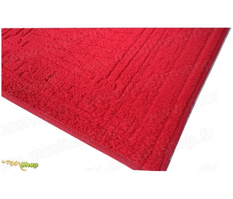 tapis de pri re pais et moelleux grande taille coloris rouge. Black Bedroom Furniture Sets. Home Design Ideas