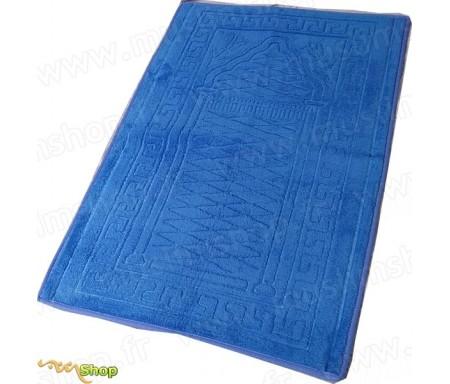 Tapis de prière épais et moelleux - Grande taille - Coloris Bleu