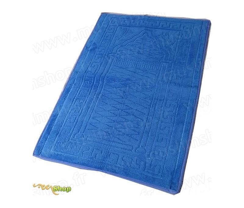 tapis de pri re pais et moelleux grande taille coloris bleu. Black Bedroom Furniture Sets. Home Design Ideas