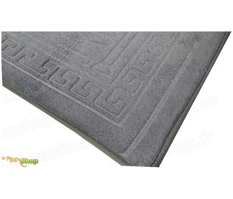 tapis de pri re pais et moelleux grande taille coloris gris. Black Bedroom Furniture Sets. Home Design Ideas