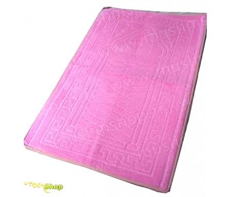 Tapis de prière épais et moelleux - Grande taille - Coloris Rose