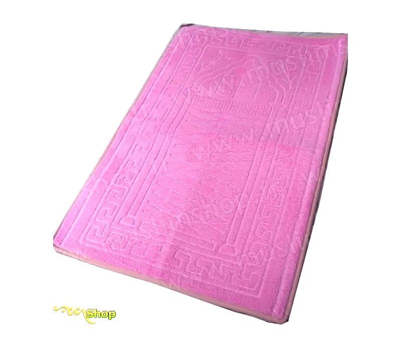 tapis de pri re pais et moelleux grande taille coloris rose. Black Bedroom Furniture Sets. Home Design Ideas