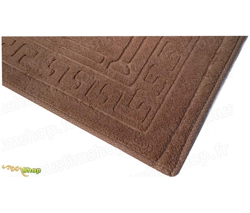 tapis de pri re pais et moelleux grande taille coloris taupe. Black Bedroom Furniture Sets. Home Design Ideas