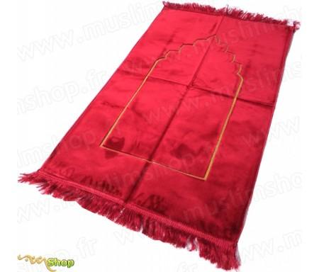 Tapis de prière velours Arcade - Couleur Rouge