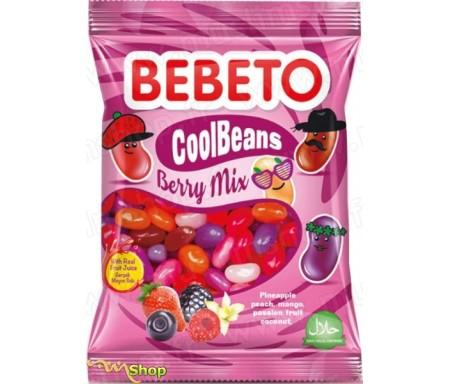 BEBETO Cool Beans Berry Mix (Haricot Cool - Fruits des bois) Bonbons Halal 60g