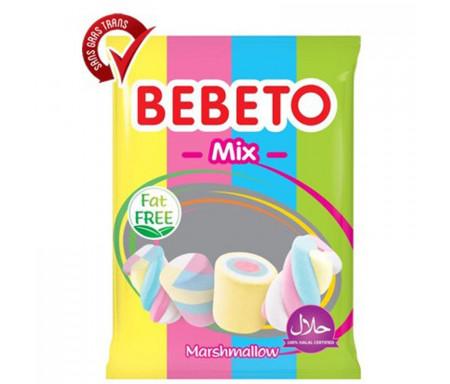 Bonbons Halal Marshmallow Mix (Mélange arc-en-ciel) Bebeto - Sans gras (sachet de 275g)