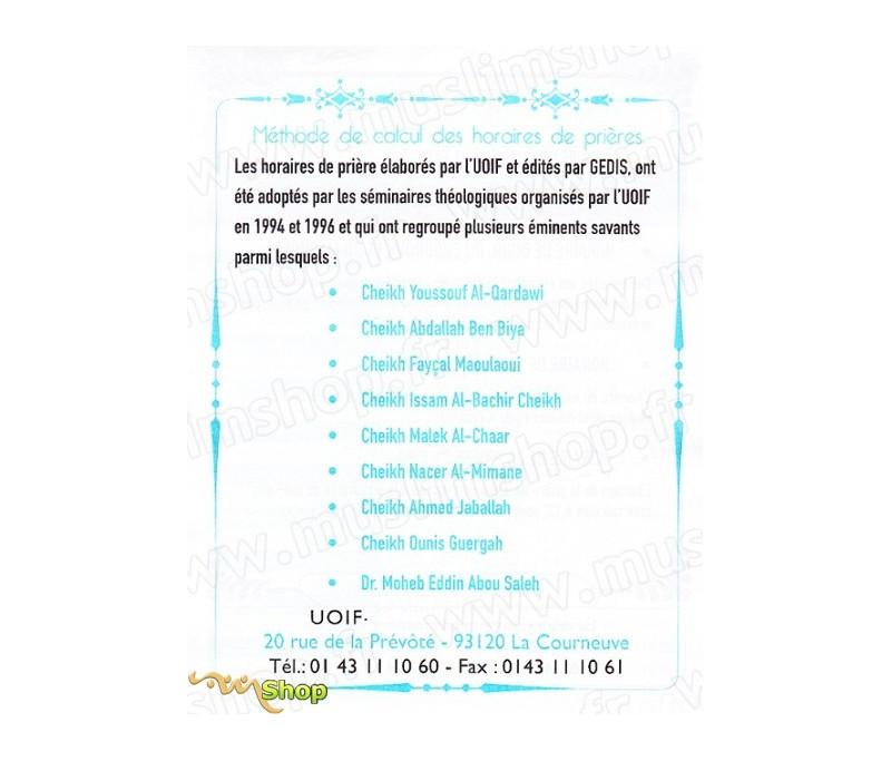 Calendrier Ramadan 2019 Montpellier.Calendrier De Prieres Uoif 2019 Bloc 3 Sud Est Et Couloir