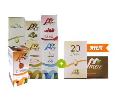Pack 6 huiles Mea Naturals + 1 Offerte !