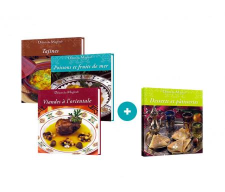 "Pack 3 livres ""Cuisine du Maghreb"" + 1 Offert !"