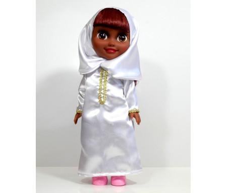 """Poupée musulmane """"Chifa"""" parlante (version de luxe) - Vêtement blanc"""