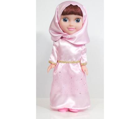 """Poupée musulmane """"Chifa"""" parlante (version de luxe) - Vêtement rose"""