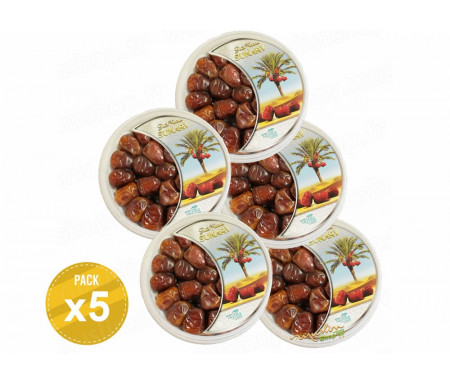 Pack de 5 boîtes Découverte de Dattes d'Arabie Sukary / Sokary - 500gr