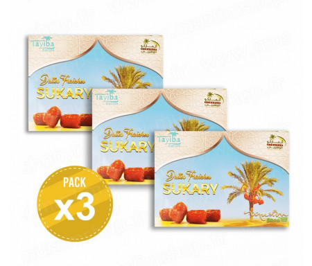 3 x Dattes Sukary - 1,5kg
