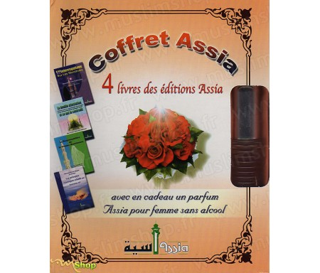 Coffret Assia 4 livres + 1 parfum (Spécial Femme)