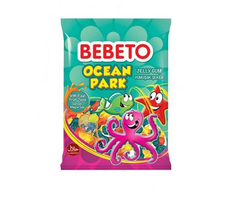Bonbons Halal Ocean Park (Parc marin) - Fabriqué avec du vrai Jus de Fruit - Bebeto - Sachet 80gr