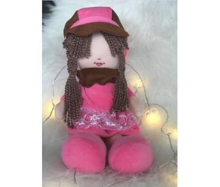 Peluche Aïcha - Grande poupée pour fillettes (Doudou sans les yeux - 40 cm)