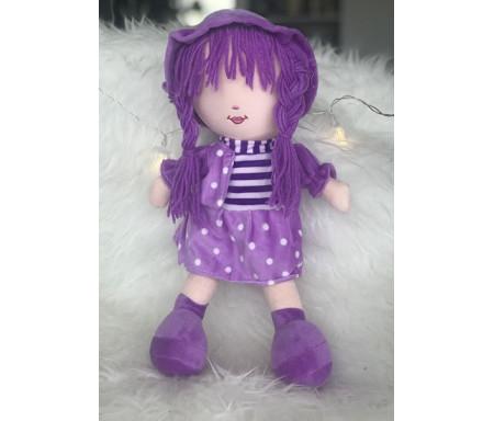 Peluche Fatima - Grande poupée pour fillettes (Doudou sans les yeux - 40 cm)