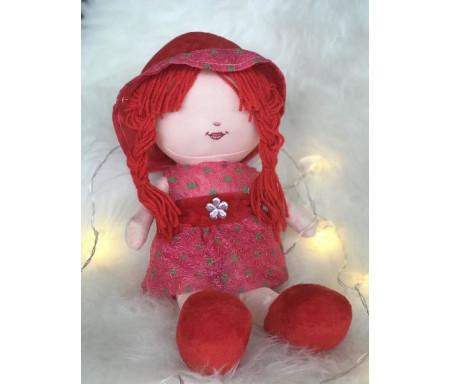 Peluche Malika - Grande poupée pour fillettes (Doudou sans les yeux - 40 cm)