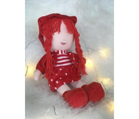 Peluche Samira - Grande poupée pour fillettes (Doudou sans les yeux - 40 cm)