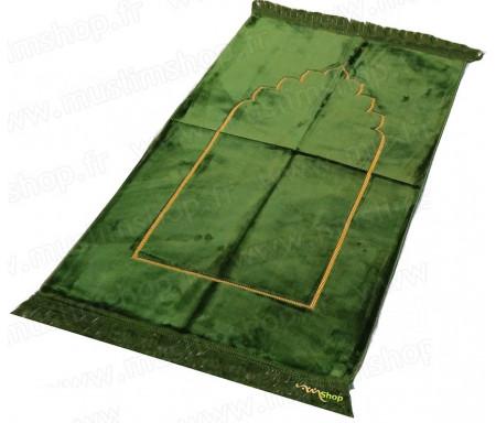 Tapis de prière velours Arcade - Couleur Vert