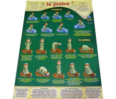 """Poster : Comment faire la prière et les ablutions (Collection """"Apprenez à vos enfants la prière"""")"""