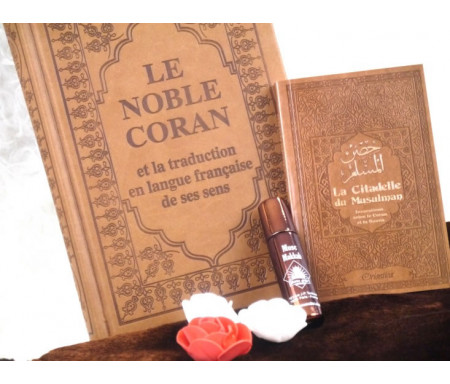 Pack Cadeau Couleur marron (Coran - Citadelle - Parfum - Sac cadeau)
