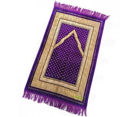 Tapis de prière Velours couleur Grenat