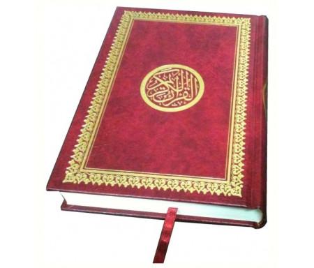 Coran spécial mosquée - Lecture Hafs - Couverture rouge dorée - Très grand format (48 x 35 cm)