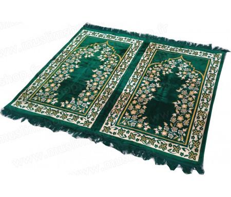 Tapis de prière Velours et confortable deux (2) places - Vert