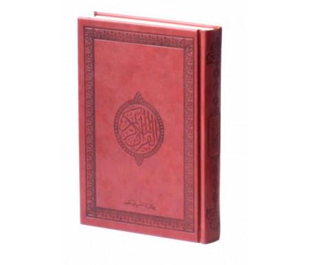 Le Saint Coran version arabe (Lecture Hafs) de luxe avec couverture en daim marron foncé
