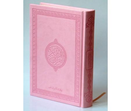 Le Saint Coran version arabe (Lecture Hafs) de luxe avec couverture Rose clair