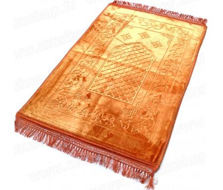 Grand tapis épais avec motif Arabesque - Bleu