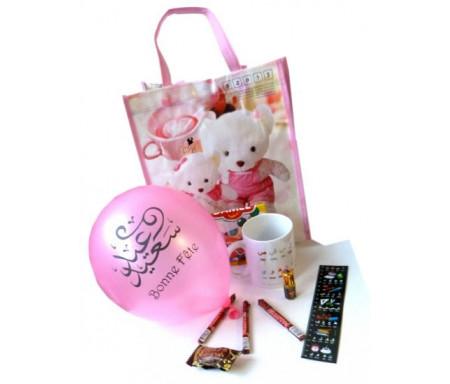 Pack cadeaux Enfants avec Mug Alphabet arabe (version filles)