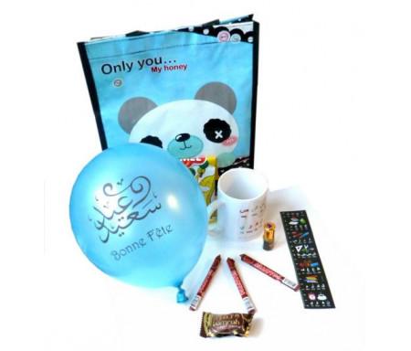 Pack cadeaux Enfants avec Mug Alphabet arabe (version garçons)