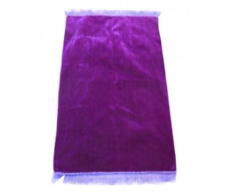Tapis de prière musulman en velours couleur unie violet