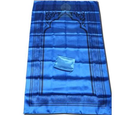 Tapis de poche pliable et transportable avec son étui de couleur brillante - Couleur bleu