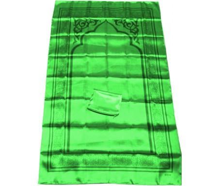 Tapis de poche pliable et transportable avec son étui de couleur brillante - Couleur vert